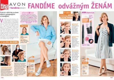 Spolupráce s časopisem TINA